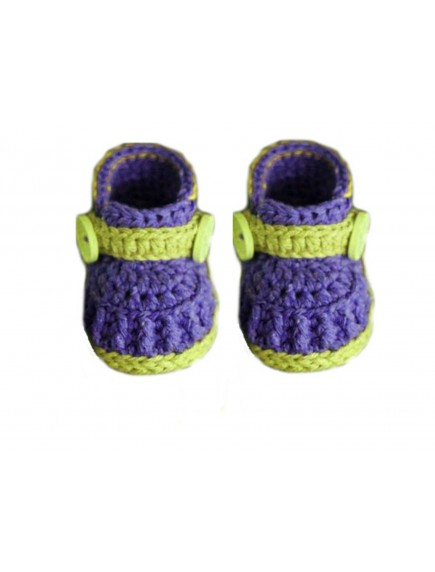 ChoosePick Baby Crochet Handmade Blue Green Fabric Boots